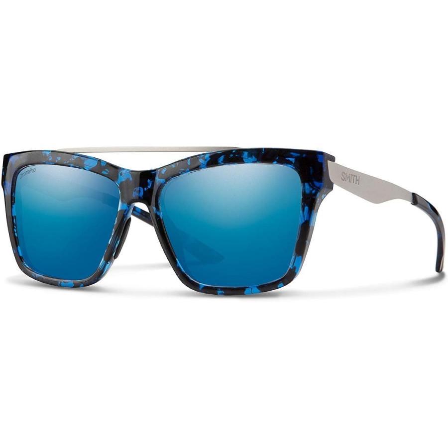 55/16/140 Smith The Runaround Chroma Pop Sunglasses, 青 Tortoise