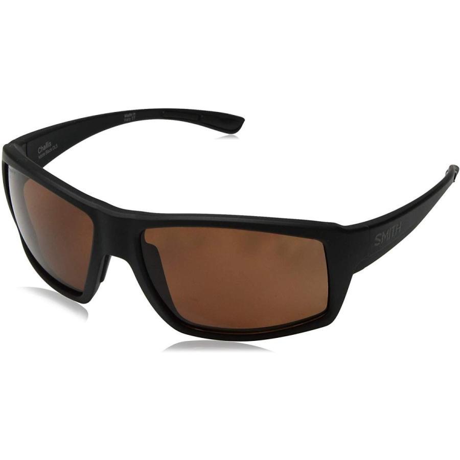 買い保障できる One Size Smith Challis ChromaPop+ Polarized Sunglasses, Matte Black, Copper Lens, ヒガシヒロシマシ baf15ac8