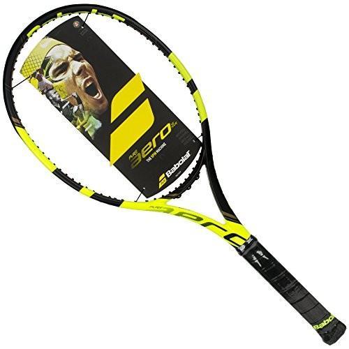 超人気 Babolat Pure Aero VS Tour 16x20 Yellow/Black Tennis Racquet (4 5/8