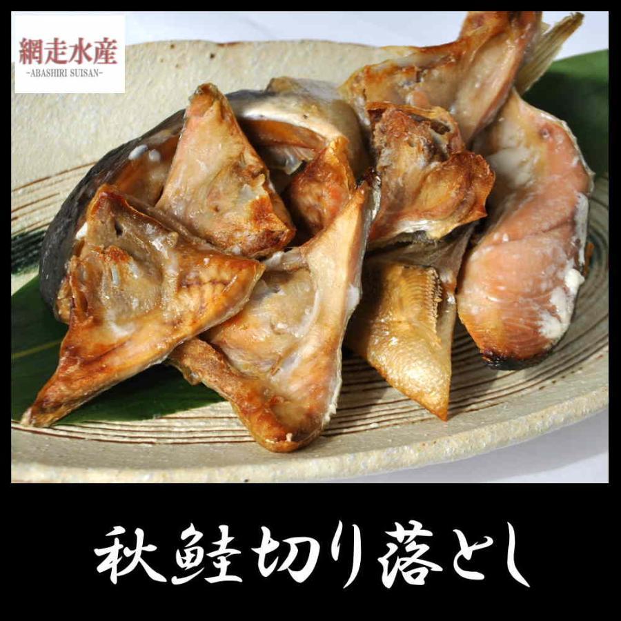 秋鮭切り落とし 500g・1袋 訳あり 鮭 ご自宅用 お弁当 おつまみ しょっぱい|abashiri