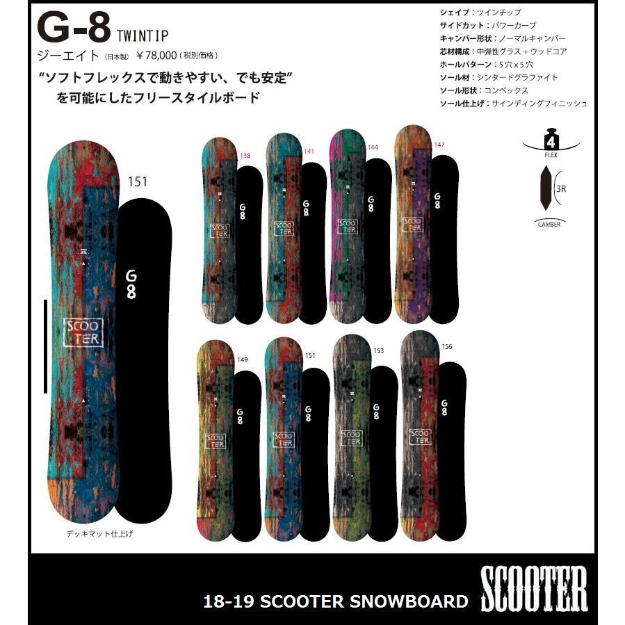 いいスタイル 18-19 SNOWBOARD/ SCOOTER SNOWBOARD G-8/ G-8/スクーター スノーボード 18-19 ジーエイト2019, ゴカマチ:01e4cc3c --- airmodconsu.dominiotemporario.com