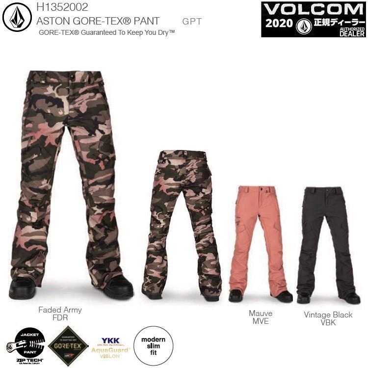 VOLCOM W's ASTON GORE-TEX PANT 19-20【各カラー】/ボルコム レディスゴア パンツ GORE-TEX 2LAYER