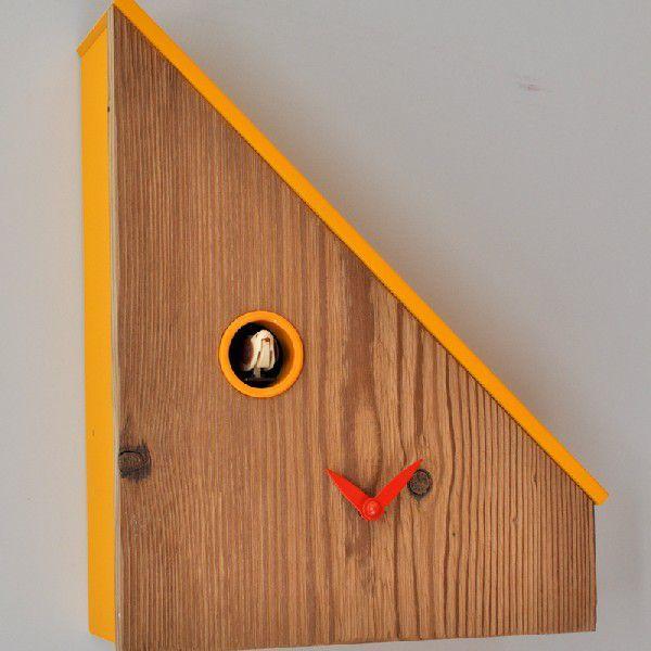 木製鳩時計 ピロンディーニ(pirondini)イタリア製カッコー掛け時計-107giallo 黄 Davos