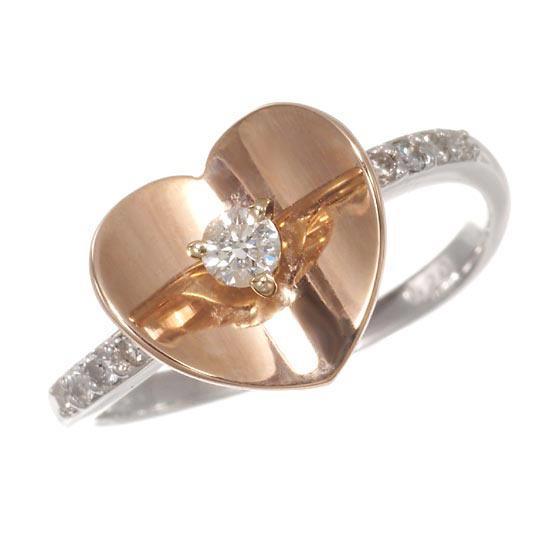 安い割引 K18WG K18WG PG PG ハートリング ダイヤモンド計0.2ct ハートリング, GiMOの帽子屋:00e7077c --- airmodconsu.dominiotemporario.com