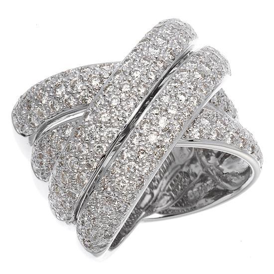 上等な ダイヤモンド計2.7ctボリュームクロスリング 指輪, シマモトチョウ 43441202