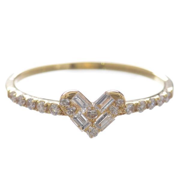 【現金特価】 ダイヤモンド リング 指輪 K18 18金 ハート, アイアイ元気 48eb47c9
