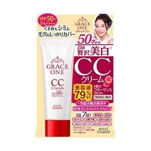 《コーセー》グレイス ワン CCクリームUV 00 明るい肌色 SPF50+PA++++(50g)|ace