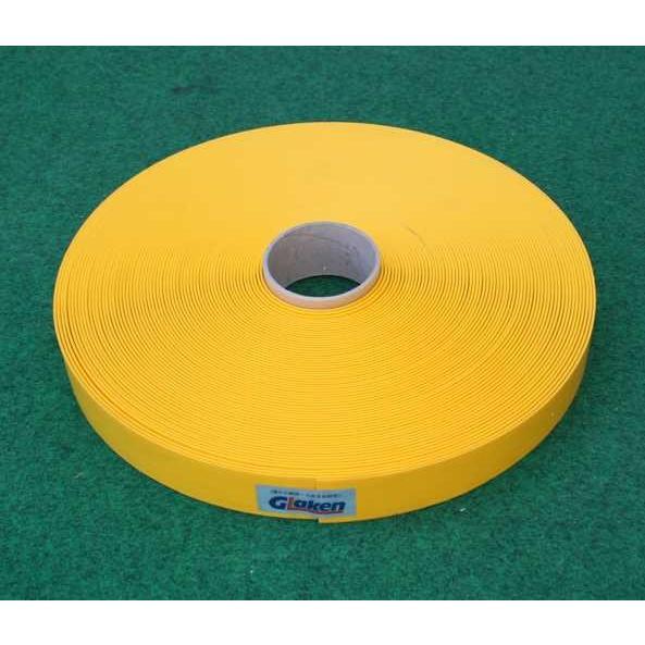 Glaken ブーブーライン(ロールタイプ) 4cm幅 黄 25m巻 BBL4-25G (釘別売り) [駐車場駐 輪場専用ラインテープ 駐車場ライン引き]