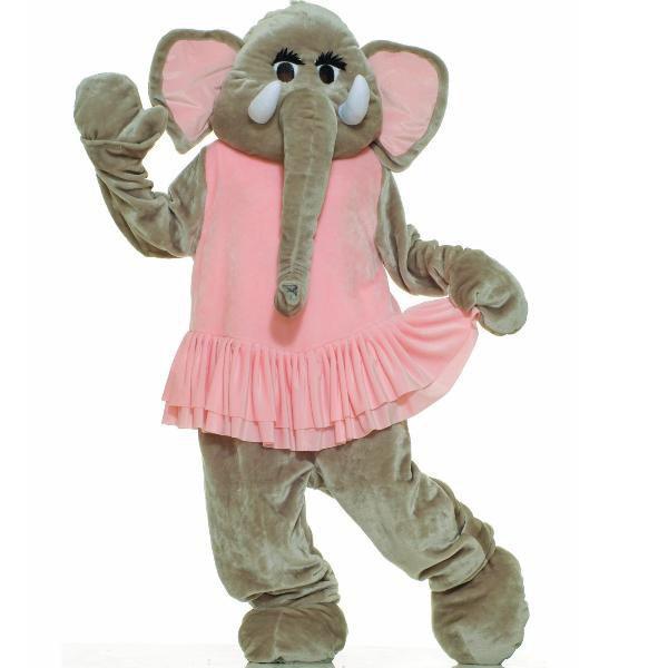 エレファントバレリーナ 象 着ぐるみ きぐるみ キャラクター エコノミーマスコット 大人用コスチューム パジャマ