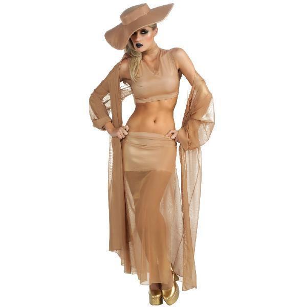 芸能人 歌手Lady Gaga レディー・ガガ ボーン・ディス・ウェイ ゴールドコスプレ衣装・コスチューム
