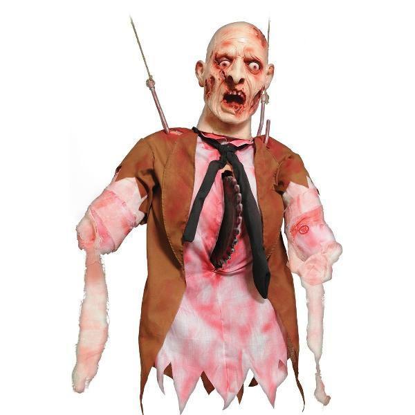 雑貨 飾り 装飾 デコレーション ホラー・恐怖系 グッズ 電動のこぎりで切断される人形飾り