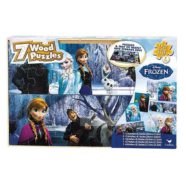 ディズニー アナと雪の女王 Frozen パズル 木製 7枚入り