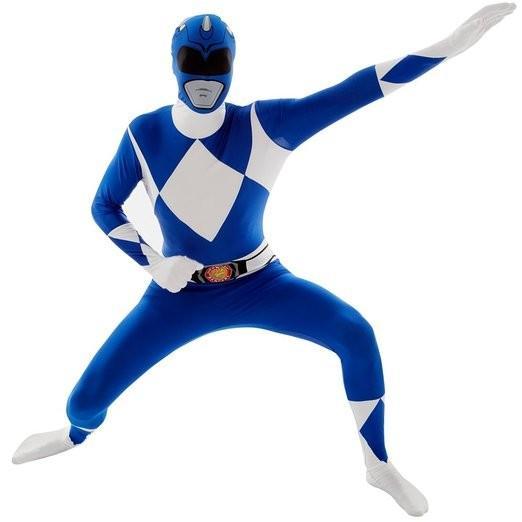 戦隊 ヒーロー 全身タイツ コスプレ パワーレンジャー コスチューム スーツ 特撮 衣装 ブルー 大人 モフスーツ
