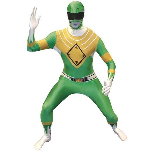 戦隊 ヒーロー 全身タイツ コスプレ パワーレンジャー コスチューム スーツ 特撮 衣装 グリーン 大人 モフスーツ