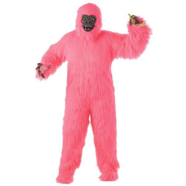 ゴリラ 着ぐるみ 動物 デラックス イエティ 大人用 ピンク コスチューム コスプレ 衣装 ハロウィン パーティー 猿 おしゃれ かわいい UMA