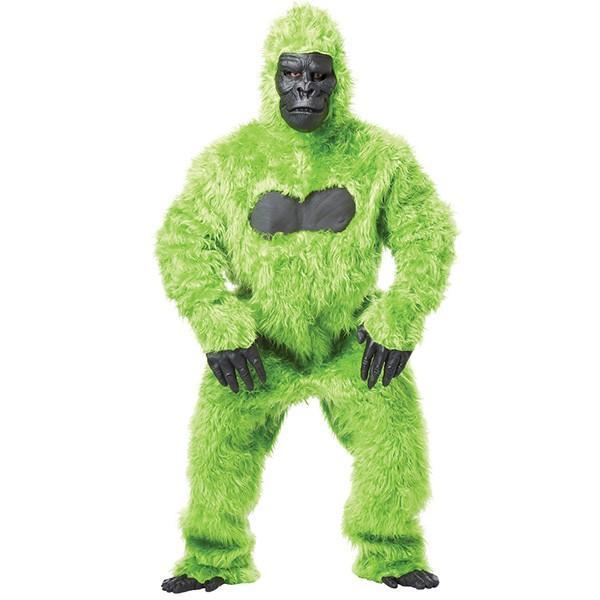 ゴリラ 着ぐるみ 動物 大人用 おしゃれ グリーンゴリラ コスチューム コスプレ 衣装 ハロウィン パーティー 猿 かわいい 緑 もふもふ
