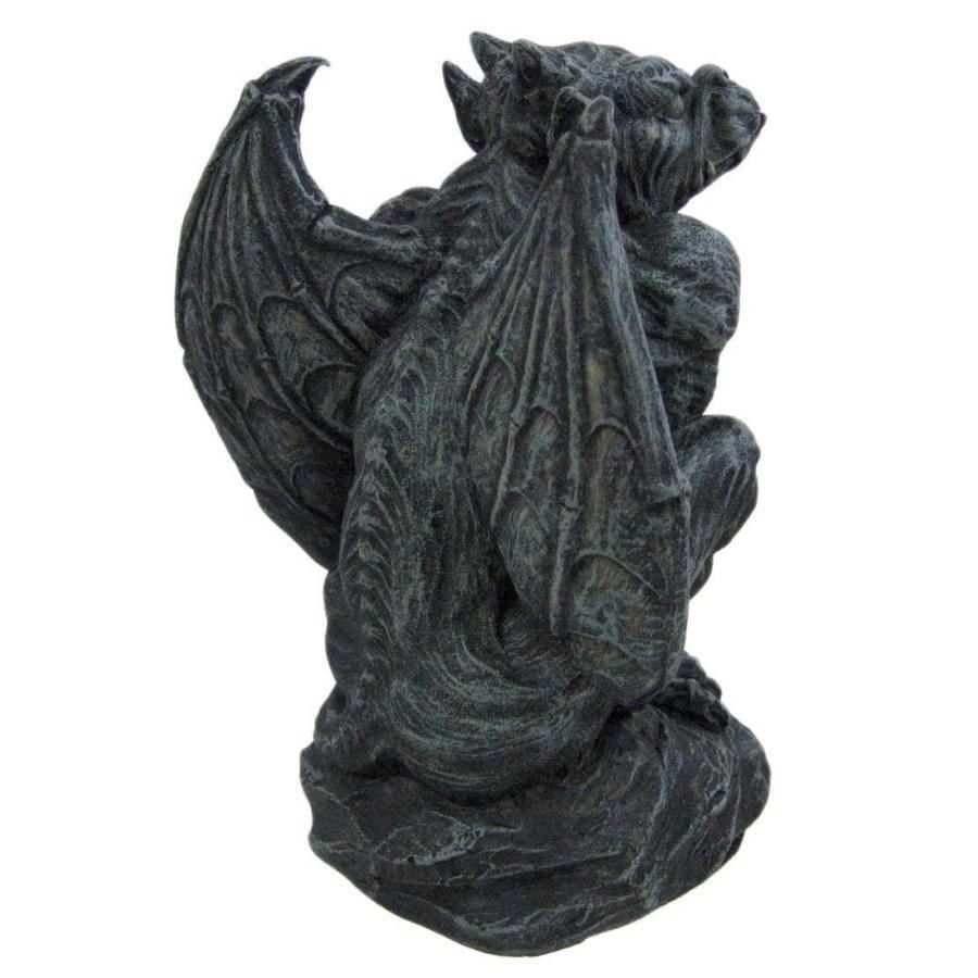 ハロウィンデコレーション 守護神 魔除け 翼のあるガーゴイル 彫像 置物 ガーデン インテリア 装飾 飾り グッズ|acomes|03