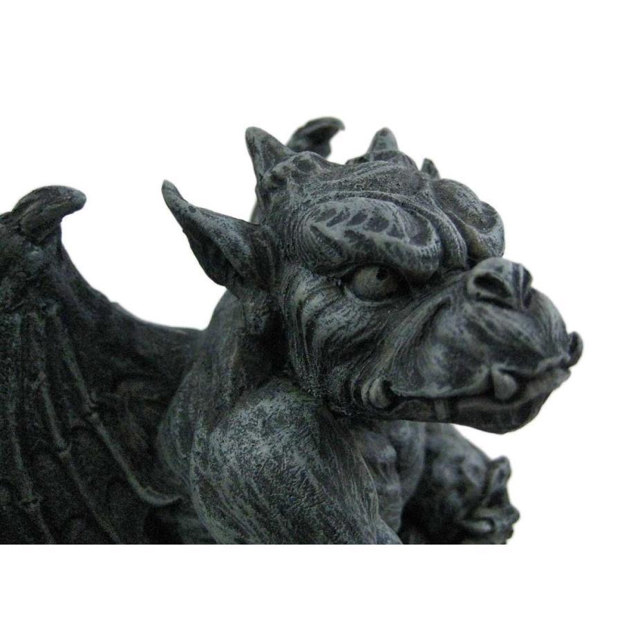 ハロウィンデコレーション 守護神 魔除け 翼のあるガーゴイル 彫像 置物 ガーデン インテリア 装飾 飾り グッズ|acomes|04