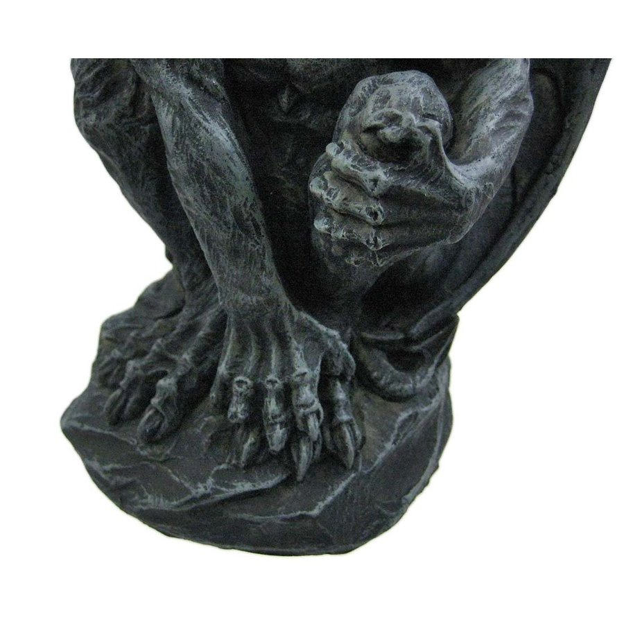 ハロウィンデコレーション 守護神 魔除け 翼のあるガーゴイル 彫像 置物 ガーデン インテリア 装飾 飾り グッズ|acomes|05