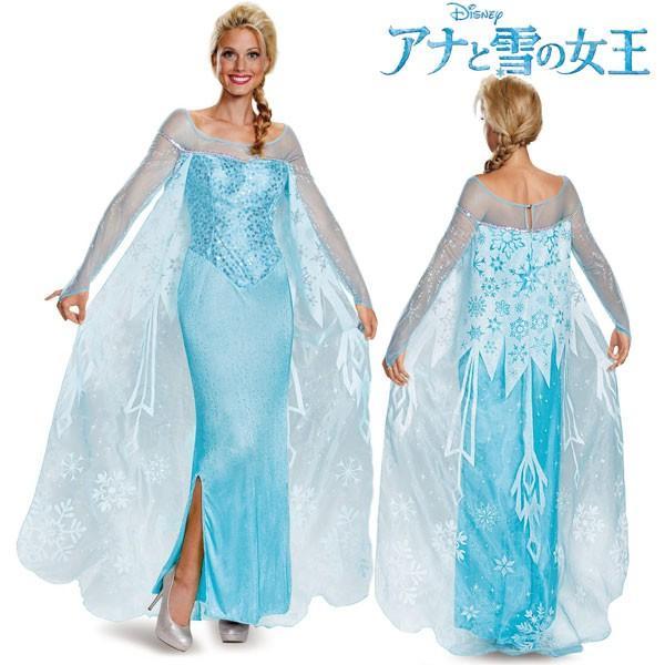 アナと雪の女王 ドレス エルサ 大人 女性用 コスチューム ディズニー プリンセス ハロウィン 仮装 コスプレ