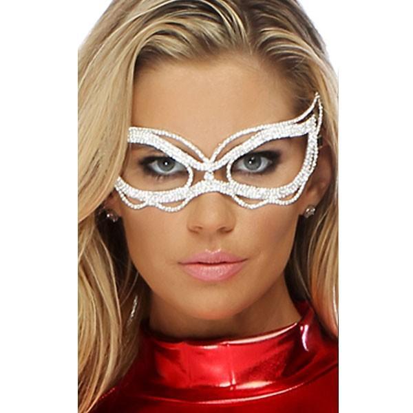 ラインストーン 波型 シルバー ベネチアンマスク アイマスク ハロウィン マスカレード 仮面舞踏会 カーニバル コスプレ グッズ