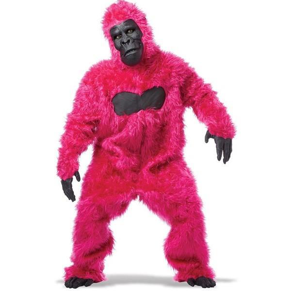 ゴリラ 着ぐるみ 動物 ハロウィン コスプレ コスチューム ピンクのゴリラ 大人用