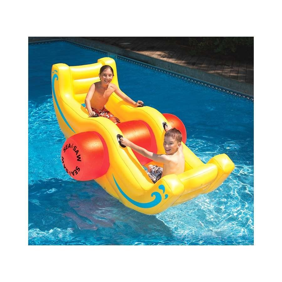 プール グッズ おもちゃ ペアで楽しめる子供用フロート 浮き輪 ボート シーソー型 インスタ