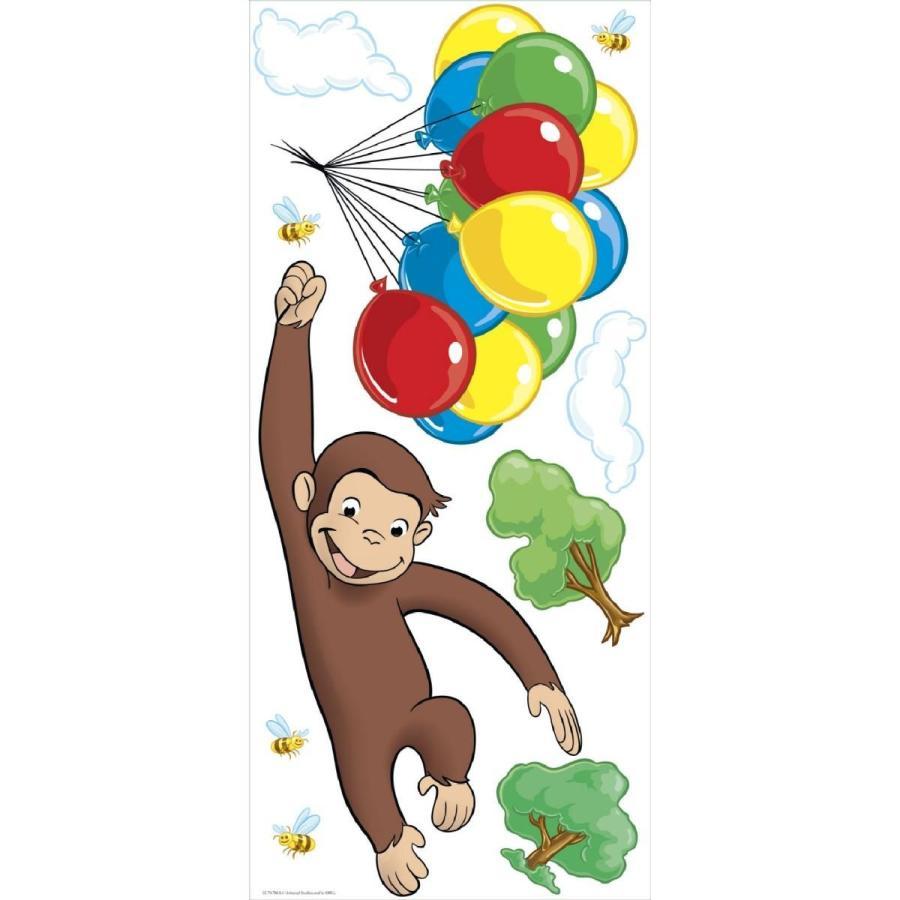 おさるのジョージ ジャイアント ウォール ステッカー 子供 部屋 猿 サル アカムスyahoo 店 通販 Yahoo ショッピング