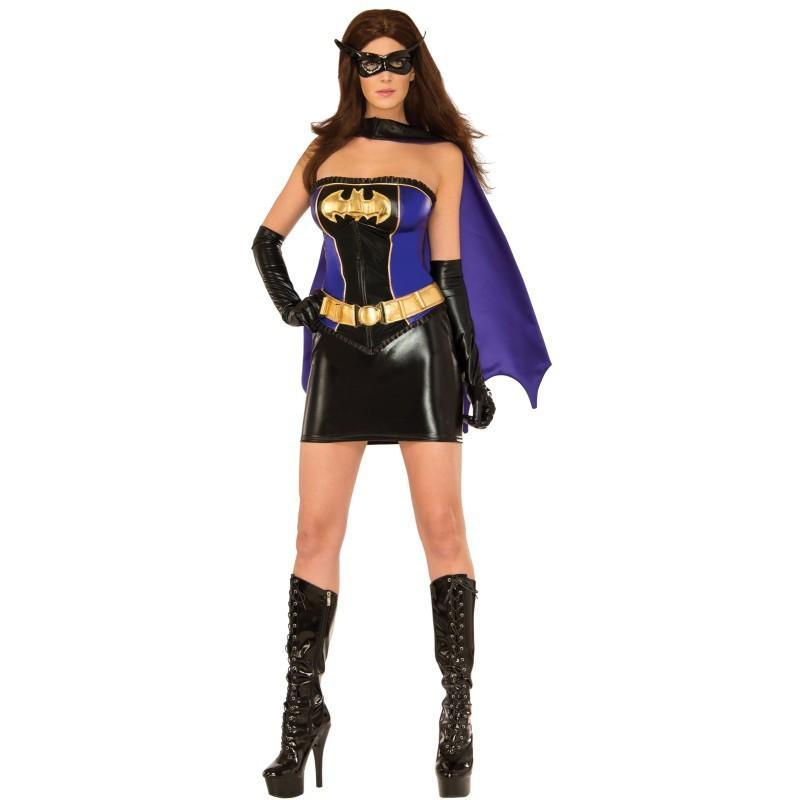 バットガール コスチューム コスプレ セクシー バットマン 仮装 大人 衣装 コルセット チューブトップ ミニスカート 映画 アメコミ