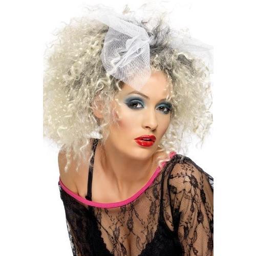 マドンナ  かつら ウィッグ リボン付 レディース 80年代 80's 金髪 ブロンド 歌手 アイドル コスプレ 変装 ポップスター 大人 女性