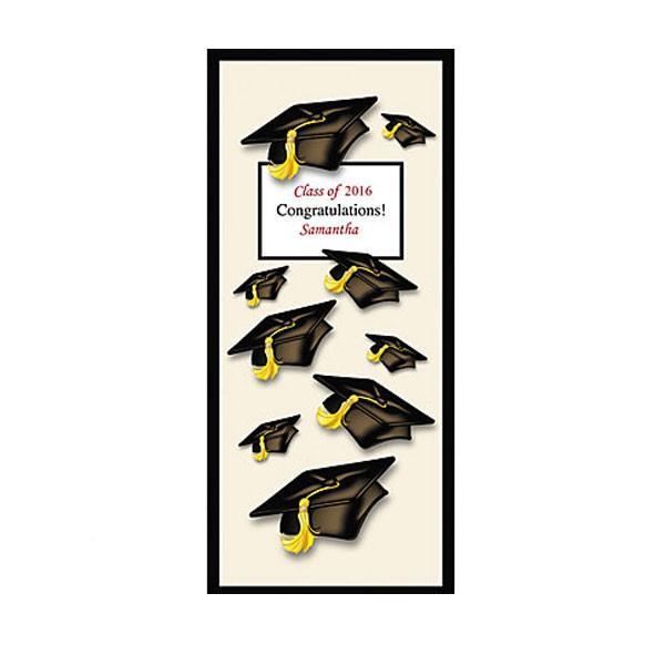 メッセージ入り 卒業 角帽 ドア カバー 卒業式 パーティー 会場 記念 イベント ポスター