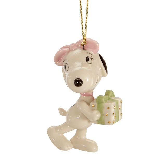 ピーナッツ クリスマスサプライズのベル フィギュア オーナメント スヌーピー ビーグル 犬 レノックス社 ジム・ショア ギフト プレゼント 年賀状 戌年