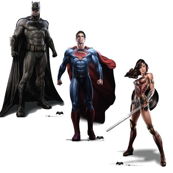 等身大パネル バットマン スーパーマン ワンダーウーマン vs ジャスティスの誕生 海外 映画 ヒーロー アメコミ