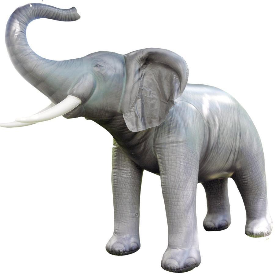 等身大 象 ゾウ ぞうさん 高さ2mの膨らむ人形 大きい 置物 飾り バルーン デコレーション 動物 おもちゃ グッズ ビッグサイズ エレファント
