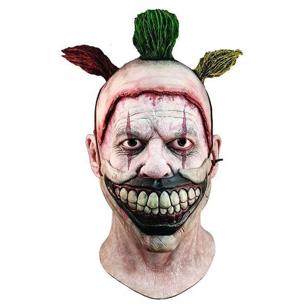 ホラーマスク アメリカンホラーストーリー ツイスティー 殺人ピエロ 大人用 クラウン 仮面 恐怖 肝試し お化け コスプレ 衣装