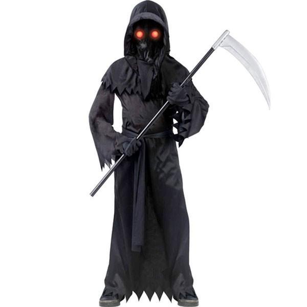 コスプレ 子供 衣装 男の子 人気 幽霊 赤く 目が光る ファントム ハロウィン 肝試し コスチューム