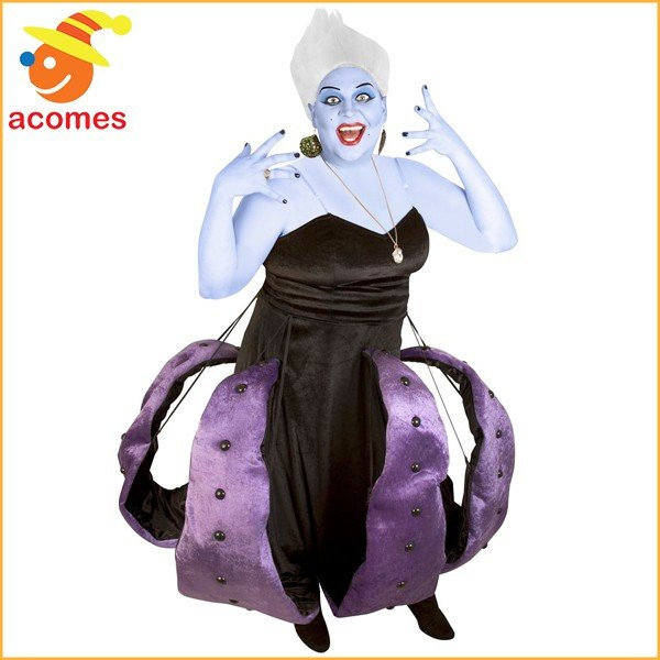 魔女 コスプレ アースラ 大きいサイズ ハロウィン タコ コスチューム