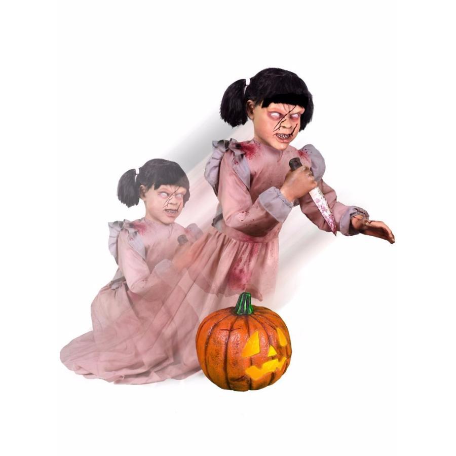 デコレーション センサー 動く 電動 人形 飛び出す 切り裂き少女 ゾンビ お化け屋敷 装飾 飾り インテリア 恐怖 ホラー おもちゃ グ