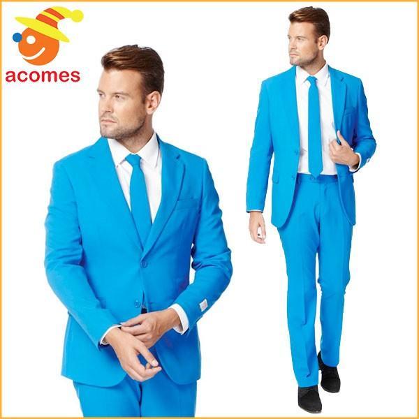 派手 スーツ 衣装 スカイ ブルー 大人用 コスチューム オッポスーツ OppoSuits スチール 青 水色 パーティー 出し物 芸人 舞台 ジョ