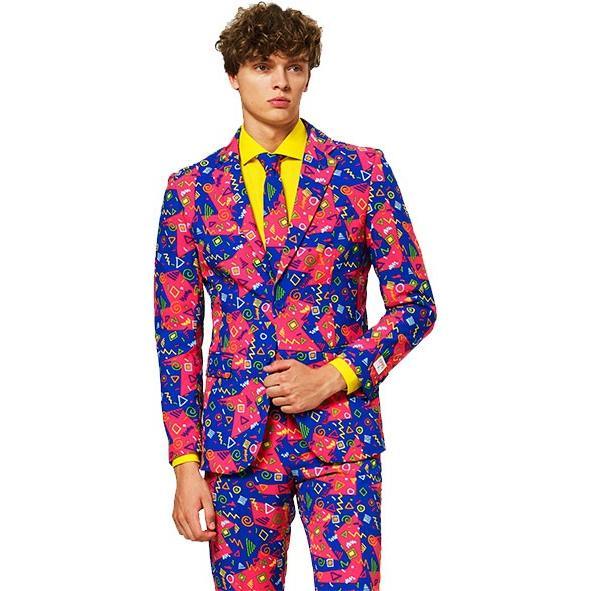 派手 スーツ オッポスーツ らくがき 衣装 大人用 パーティー イベント 出し物 芸人 舞台 ジョーク 目立つ 学祭 OPPO SUITS ファンシ
