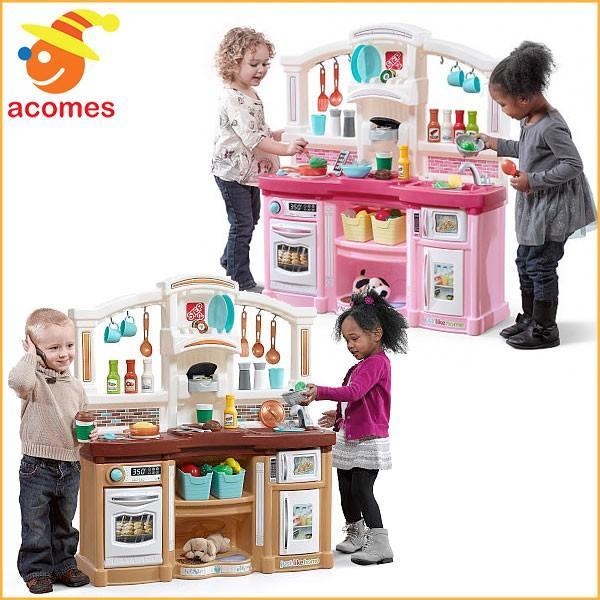 ごっこ遊び 我が家のキッチン おままごと 子供 おもちゃ 台所 ピンク