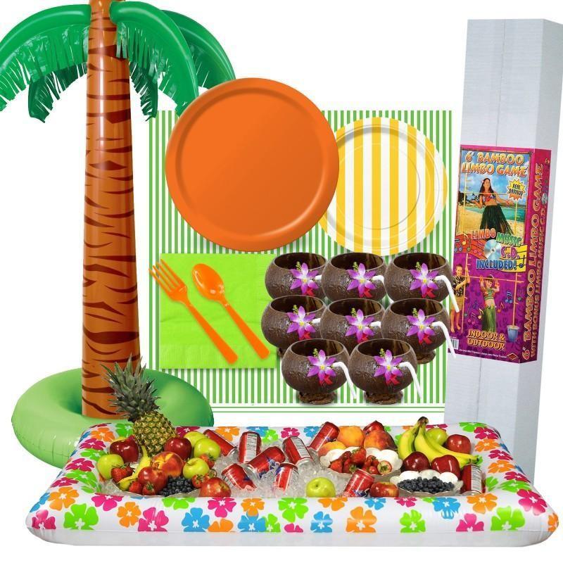 海 ビーチ パーティセット ハワイ イベント インテリア デコレーション 夏 ピクニック ジャングル 屋外 装飾 ティキ グッズ