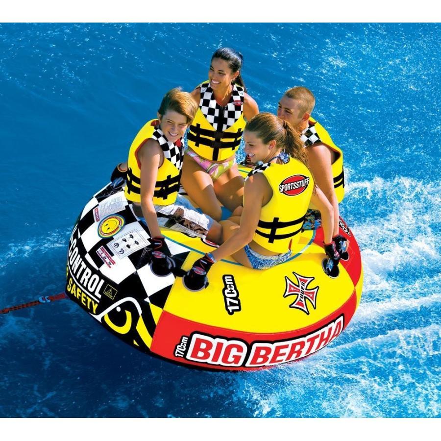 SPORTSSTUFF トーイングチューブ Big Bertha 4人乗り ジェットスキー マリンスポーツ 複数 グループ 海 おもちゃ ボート フロート グッズ