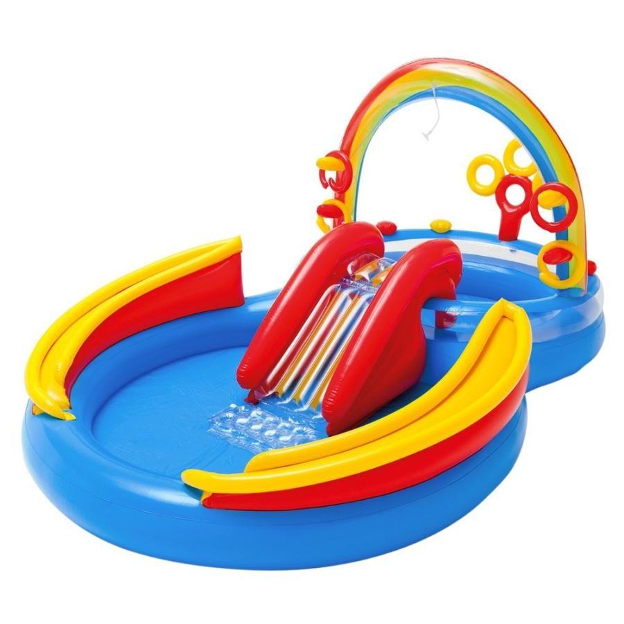家庭用 ビニールプール 人気 大型遊具 輪投げ レインボー INTEX