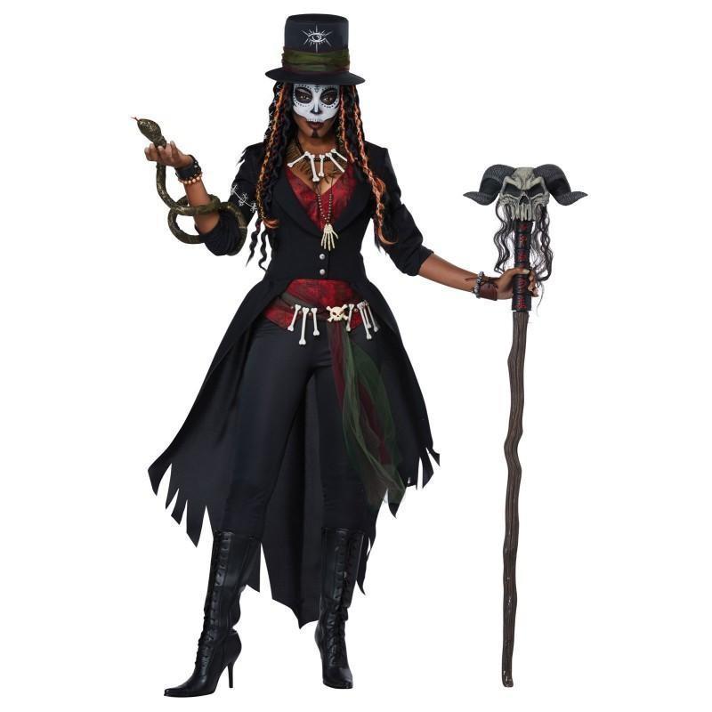 ブードゥー教 コスチューム 大人 レディース コスプレ 仮装 ハロウィン 魔法使い 宗教