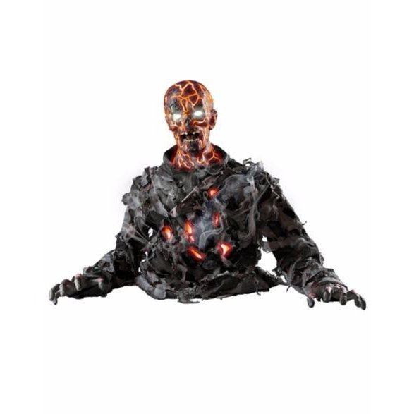 動く ゾンビ 人形 72cm サウンド 置き物 海外 ハロウィン 怖い デコレーション インテリア ホラー 恐怖 グッズ