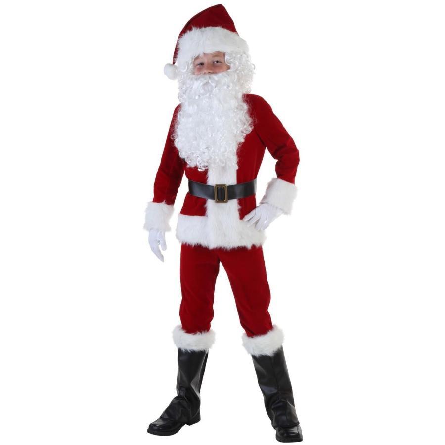 コスプレ 子供 衣装 男の子 人気 サンタクロース コスチューム デラックス クリスマス 仮装 海外