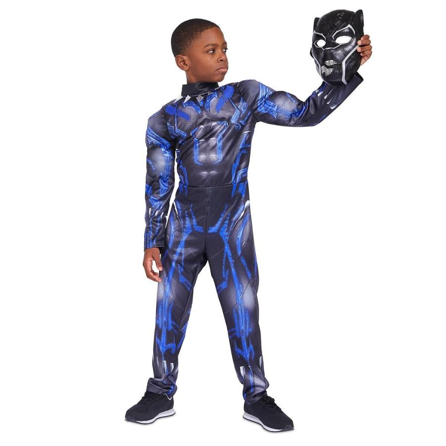コスプレ 子供 衣装 男の子 人気 ブラックパンサー 光る コスチューム マーベル アメコミ ヒーロー 仮装