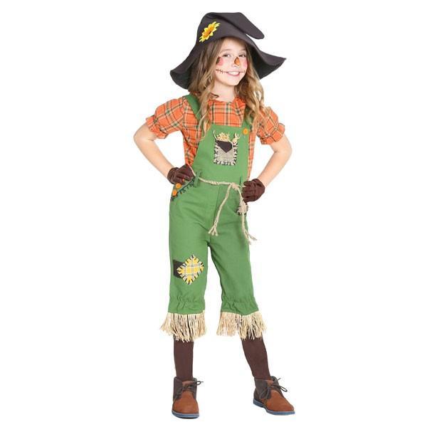 オズの魔法使い 案山子 子供 女の子 コスチューム かかし ハロウィン 衣装 イベント パーティー