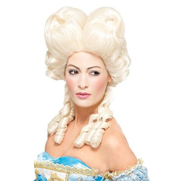 マリーアントワネット かつら ウィッグ ライトブロンド 髪の毛 大人用 コスプレ レディース 貴族 中世 ヨーロッパ 王妃 演劇 舞台 仮装 変装 小道具